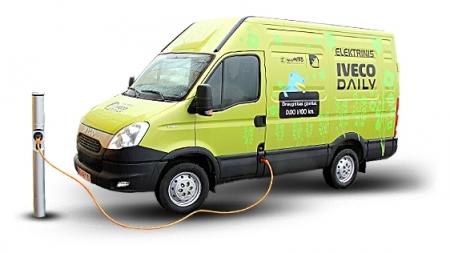 Pristatomas pirmasis Lietuvoje pagamintas elektra varomas furgonas